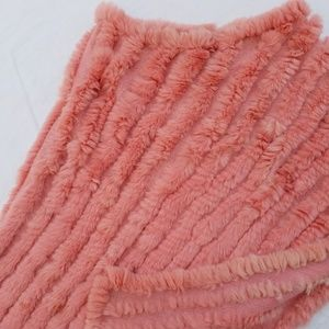 BCBG Maxazria Real Rabbit Fur Poncho Pullover OS